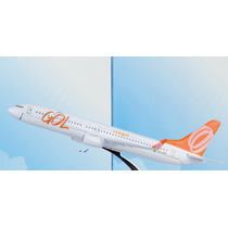 Avião Gol 737 800 Miniatura Pedestal Modelo Quarto Decoração