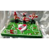 Adornos De Torta Personalizados ( Cancha De Fútbol )