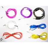 Cable Mini Plug 3,5 Mm Entrada Auxiliar Macho Color Violeta