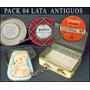 Dante42 Pack 04 Antigua Cajas De Lata