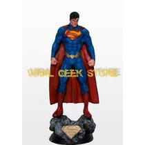 Boneco Superman New 52 - Estatua Em Resina