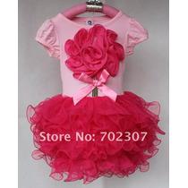 Vestido De Festa Infantil Bailarina Barbie Tutu Babado