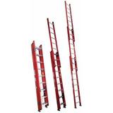 Escalera 10 Pasos 2 Cuerpos Fibra De Vidrio 2.40 Mtrs