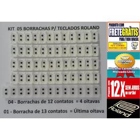 Borracha Para Teclado Roland E86 Kit Completo Frete Gratis