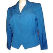 Blazer Azul Marca Miss Dorby T/10 32mex