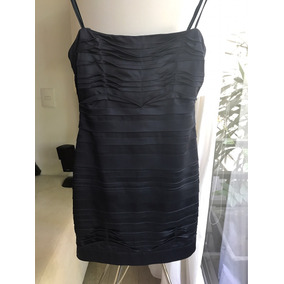 Vestido Strapless Corto Satin Bcbg Talla 2