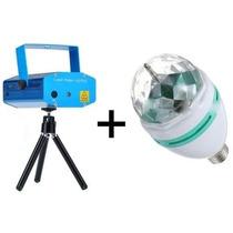 Kit Iluminacao Projetor Holográfico Mini Laser + Bola Maluca