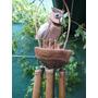 Llamadores De Ängeles En Bambú, Buho Con Dos Hijitos