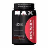 Whey Protein 100% 900g - Max Titanium Chocolate Musculação