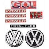 Kit Emblemas Gol G4 Power 1.6 - Geração 4 - Modelo Original