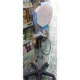 Lámpara De Pie Con Luz Fría Y Lupa Base Rodante Cosmetología