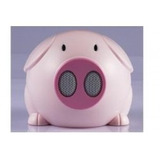 Mini Alto-falante Pig Portable Speaker C/ Usb + Linha Audio