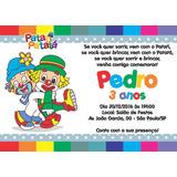 Patati Patatá Convites 14x10 Cm + Envelopes (10 Unidades)