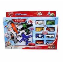 Juguete Set De 12 Figuras De Aviones Y Cars Mqueen Y Dusty