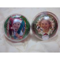05 Bola De Natal Acrílico Personalizadas Foto Variadas