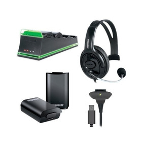 Kit De 5 Acessórios Dreamgear Para Xbox360 Com Fone Headset