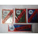 Plantilla O Molde Letras Y Números Plastic Stencils