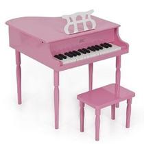 Rosa Childs Madera Toy Piano De Cola Con El Banco Para Niños