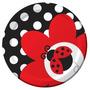Platos Desechables Pequeños Coquito - Mariquita - Ladybug