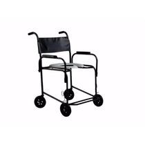 Cadeira De Rodas Higiênica Para Banho Obeso Até 130 Kg