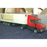 Conjunto Scania T124 E Baú Transportadora Nascisul Arpra
