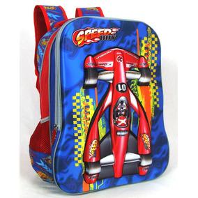 Mochila Escolar Infantil Maculino Costas Fórmula 1 - Vozz
