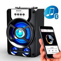 Caixa Som Bluetooth Amplificada Fm Cartão Pen Drive Aux