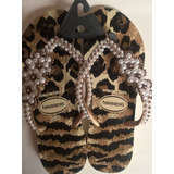 Chinelo Animal Print Havaianas Bordado