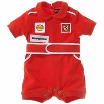 Body Macacão Fantasia Piloto Formula1 Ferrari Pronta Entrega