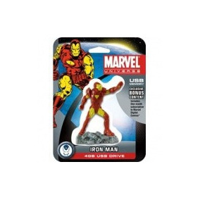 Pendrive 4gb Marvel Figura De Ironman Contenido Exclusivo