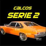 Calco Franjas Chevy Serie2 Chevrolet - Plantilla Para Pintar