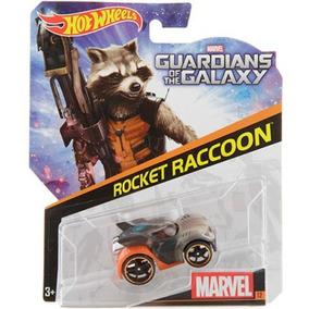 Brinquedo Hot Wheels Carros Marvel, 1 Peca - Rocket Raccoon