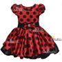 Vestido Infantil De Festa Minnie /joaninha Luxo - Promoção