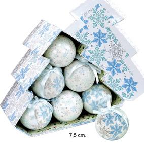 Esferas De Navidad Acabado Porcelana Empaque Con 12 Unidades