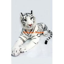 Tigre De Peluche 90cm Blanco