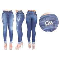 Calça Skinny Jeans Com Elastano Destroyed Canal Da Mancha