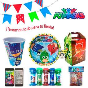 Pj Masks Heroes En Pijama Dulceros, Platos, Vasos - Fiesta!