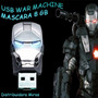 Usb Avengers Iron Man Plateado (war Machine) 8 Gb