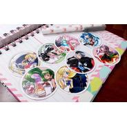 Set De 8 Stickers Circulares De Anime - Sailor Moon