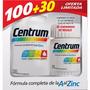 Centrum Multivitamínico 100 + 30 Comprimidos Oferta Limitada