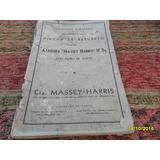 Lote 2 Antiguos Catálogo Espigadora Atadora Massey Harris