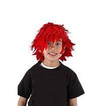 Disfraz Para Niño Bola De Fuego Peluca Para Niño O Adulto -