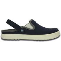 Zapato Crocs Citilane Canvas Clog Azul Marino