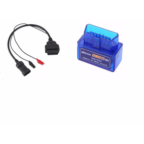 Scanner Bluetooth Automotivo Obd2 + Cabo Fiat 3 Pinos Pefg