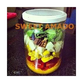 .15 Potes Salada Bolo No Pote Vidro, 500ml, 600ml Conserva