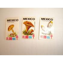 Estampilla Correos Mexico 3 Pzas Campaña Contra Tuberculosis