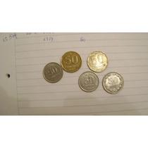 5 Monedas De 50 Centavos De Argentina Años 1941 /54 1985 /87