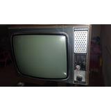Televisor Telefunken P&b Anos 70 - 80 Com Caixa De Madeira