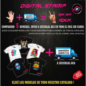 Remeras Estampadas Comprás 5, Envio Gratis ! Digital Stamp