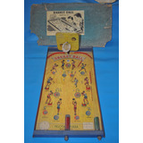Basket Ball Rapid Flipper Lata Cancha Juguete Antiguo Juego